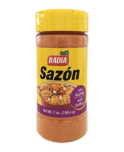 7 oz Jar Sazon with Saffron con azafran Paella Seasoning Kosher