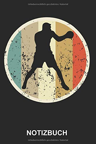 Notizbuch: Boxen Boxer Kampfsport Boxsport Faustkampf Boxhandschuhe Boxkampf Sport Sportler Retro Vintage Grunge Style   Notizbuch, Tagebuch, ... Seiten liniert   Softcover   weißes Papier