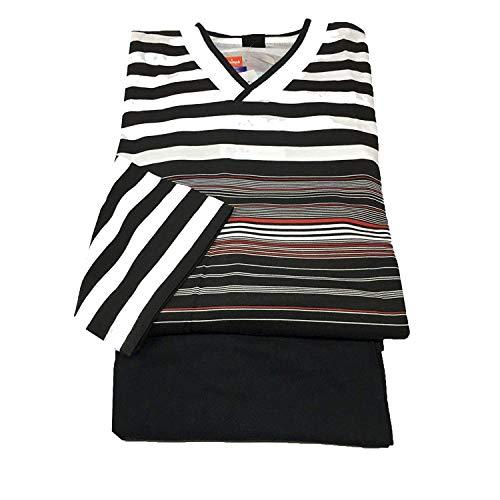TRIUMPH Herren Pyjamas lange Ärmel Weiß schwarz 100{f67aac85e1fdffd25e96764c928ffe06bbe862edf83e9897298c5a541585a258} Baumwolle - Weiß schwarz, EU52 F5 GB L I52