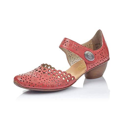 Rieker Pia Womens Open Court Shoes Red 39 EU