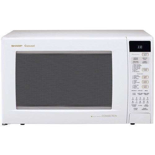 Sharp R-930AW 1-1/2-Cubic Feet 900-Watt Convection Microwave, White