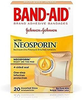 BAND-AID با پانسمان Neosporin اندازه های مختلف 20 عدد (بسته 4 تایی)