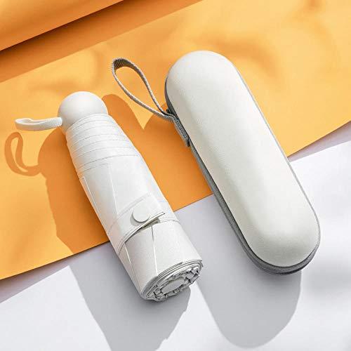 Roshow Sonnencreme-Mini-Kapsel Fünf-fache Regenschirm-Schwarzer Kleber Anti-UV-gefaltete kleine Sohle-Regenschirm-Sonnenschirm-Taschen, Regenschirm, Sonnenregenschirm-Symbol
