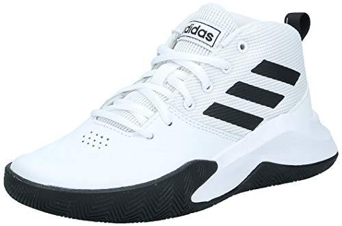 adidas Unisex-Kinder Ownthegame K Wide Basketballschuhe, Weiß (Ftwbla/Negbás/Ftwbla 000), 33 EU