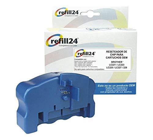Reseteador de Chips para Cartuchos de Tinta Brother LC-221, LC-223, LC-225XL, LC-227XL, LC-229XL Negro y Color