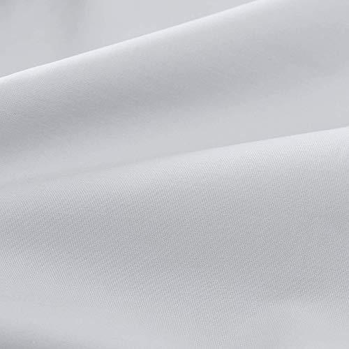 """URBANARA Spannbettlaken """"Perpignan"""" – 140cm x 200cm x 28cm, Hellgrau, 100% gekämmte Baumwolle – Bettlaken, Baumwoll-Laken, Perkal-Bettlaken, Betttuch, Haustuch"""