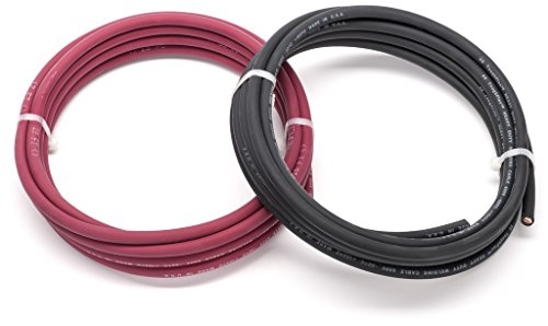 EWCS 6 Gauge Premium Extra Flexible Welding Cable 600 Volt Combo Pack - -15 Feet of Each Black+Red - Made in The USA