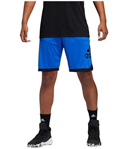 adidas, Insignia de Pantalones Cortos Deportivos, Hombre, Color Gris Jaspeado Medio/Rosa, tamaño L Long