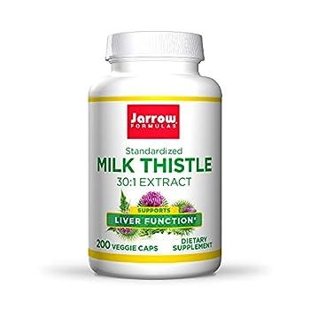 Jarrow Formulas Milk Thistle 150 mg - 200 Veggie Capsules - Antioxidant Supporting Immune Response Liver Function & Glutathione - Up to 200 Servings