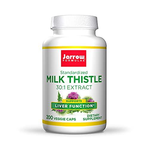 Jarrow Formulas Milk Thistle 150 mg - 200 Veggie Capsules - Antioxidant Supporting Immune Response, Liver Function & Glutathione - Up to 200 Servings