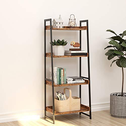 IRONCK Industrial Bookshelf 4-Tier, Bookcase 60