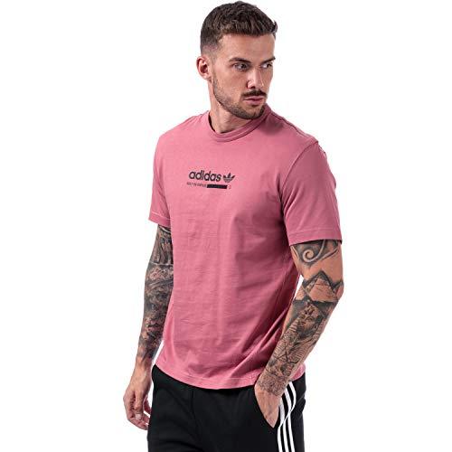 Adidas Originals Kaval - Camiseta para hombre, color granate Rosa rosa L