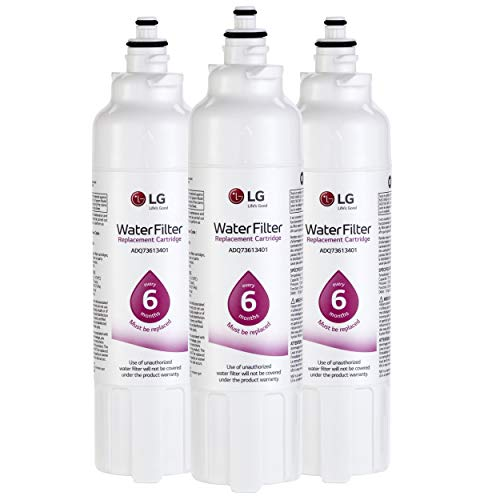 LG LT800P3 6-Month / 200 Gallon Replacement Refrigerator Water Filter, Standard, White