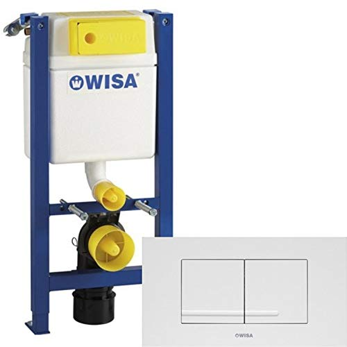 WISA WC Element 2-Mengen Spülkasten XT | Extraflach - 83cm geringe Bauhöhe | 38cm breit | inkl. Betätigung KANTOS weiß