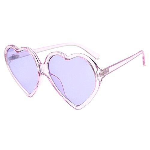 S-TROUBLE Occhiali da Sole a Forma di Cuore Occhiali da Sole Donna Moda Occhiali da Vista Designer di Marca UV400