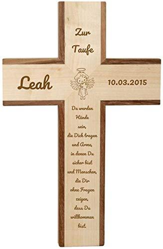 Holzkreuz Ahorn-Akazie 109851 mit Gravur