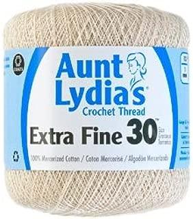 Aunt Lydia's Bulk Buy Crochet Cotton Crochet Thread Extra Fine Size 30 (3-Pack) Natural 180-226
