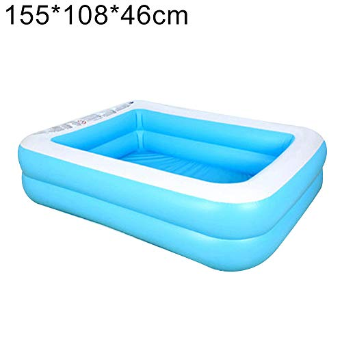 Vwlvrsco Summer Inflatable Family Kids Children Adult Play Bathtub Water Swimming Pool for Home Garden Blue White 15510846cm