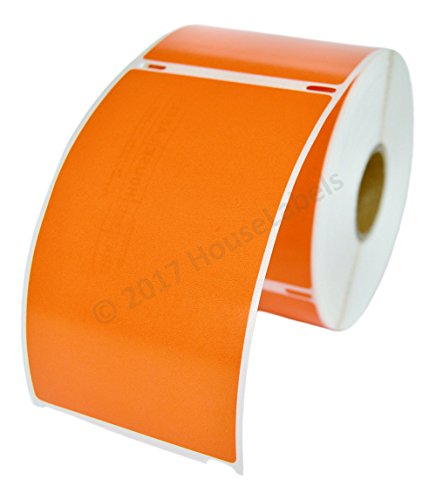 """6 Rolls - 300 Labels per Roll of Compatible with DYMO 30256 Orange Large Shipping Labels (2-5/16"""" x 4"""") - BPA Free"""