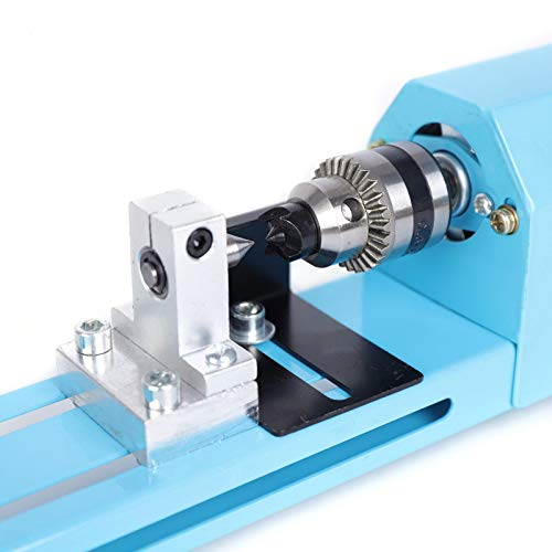 DENESTUS Mini Wood Lathes Multi Metal Mini Lathe CNC Polisher Wood Model Making Drilling Milling Machine Tool 150W for DIY Grinding Drill Art Woodworking USA Stock