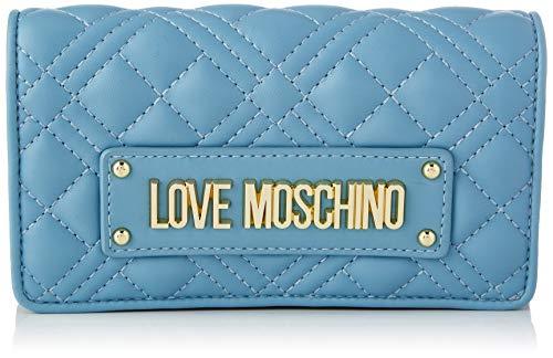 Love Moschino Precollezione SS21 Donna, Portafogli, Collezione Primavera Estate 2021, Azzurro, Normal