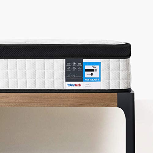 Yaheetech Double Mattress 4ft 6 Memory Foam Mattress 9-Zone Pocket Sprung Spring Mattress 27cm Height with Breathable Knitted Fabric and Airy Mesh,Medium Firm Orthopaedic Mattress,135x190
