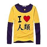 HOLRAN No Game No Life Sora Cosplay Costume Hero Tshirt tee (Large, Yellow)