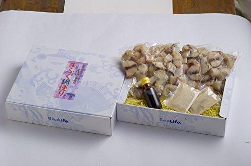 ふぐ鍋便り シーライフ 島根県浜田産「まふぐ」の鍋セット 奥出雲老舗醤油店のだしパック、ポン酢付き 1Kgのボリュウムで十分に味わえます 唐揚げにも