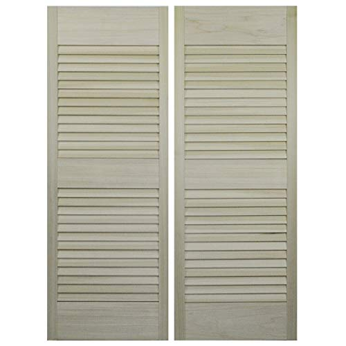 Louvered Swinging Doors/Cafe Doors/Saloon Doors with Hardware Fits Any 24