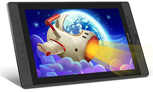 Kenting KT16 Drawing Tablet with Screen IPS Graphic Pen Display 15.6 inches Monitor 92% NTSC Full HD 7 Express Keys and Dial Wheel 8192 Level Pressure Battery Free Stylus for Digital Art Windows Mac