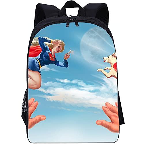 YITUOMO Mochilas escolares para niños y niñas Superman guapo cómics Impresión Mochila Estudiantes Adolescentes Mochila informal Mochila