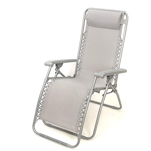 CFSAFAA Deck chair Sun lounger Camping chairss - Folding & Reclining Sun Loungers Twin Pack Made From Steel Frame And Textoline Fabric For Patio Conservatory Garden Reclining chair