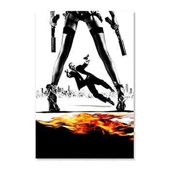 showart Farmhouse Wall Art for Living Room - The Transporter Movie Poster   Canvas Prints Art for Bedroom Home Walls Office Funny Gift Ideas 12x18inch 30x45cm