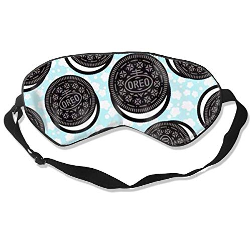 Schlafmaske für Kekse, Seide, mit verstellbarem Kopfband