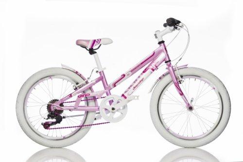 Bicicletta Bambina Dino Game Kit 20 Pollici Freni Alloy Cambio 6 Velocità Rosa