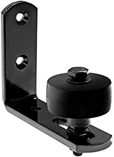 Hearth Creek Barn Door Floor Guide Stay Roller - Black Wall Mount for Sliding Door by Hearth Creek