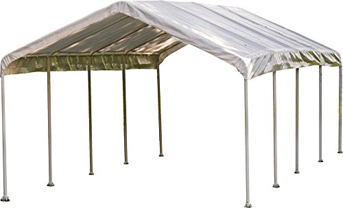 Mejor Arrow Shed 14' x 29' x 14' 29-Gauge Metal RV Carport and Multi-Use Shelter for Large Vehicles, 14' x 29' x 14', Charcoal crítica 2020