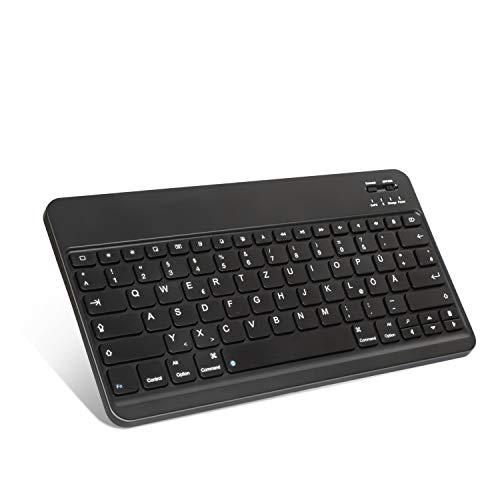 ZtotopCase deutsche Bluetooth Tastatur für Samsung Galaxy Tab A7/Samsung Tab S6 Lite/Samsung Galaxy Tab A 10.1/samsung galaxy tab s7/Samsung Galaxy Tab A T510N Tablets, Android, Smartphone, Schwarz