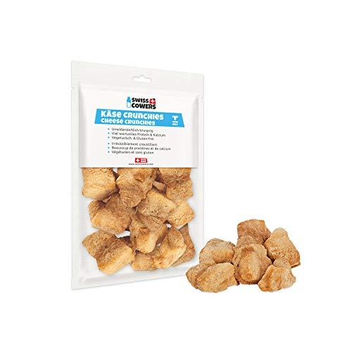Swiss Cowers Käse Crunchies Hunde Leckerlis - 100{3e48fc9d0f49093227f2d9c8b5148a6d28a1a8b85107a78d3a35f5d48a0c6390} natürliche Knusper-Snacks für Hunde aus echter Schweizer Qualitäts-Milch, 1er Pack (1 x 80 g)