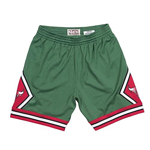 Mitchell & Ness Chicago Bulls 2008–09Green Week Swingman NBA Pantalones Cortos, Medium