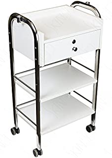 Supreme Medical Dental Mobile Utility Cabinet & Cart with Steel Frame With Single Lockable Drawer