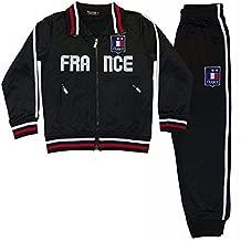 Générique Chándal de fútbol Francia 2 Estrellas para niño, Color Negro