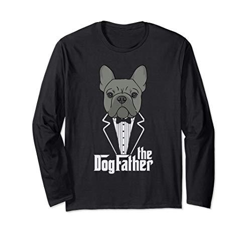 Il Padrino! Il Papà Bulldog Francese Dono Frenchie Papa Gift Maglia a Manica