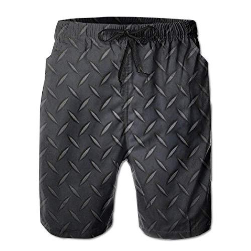 OKIJH Herren Badebekleidung Shorts Höschen Strandhose Fünf-Viertel-Hose Men's Swim Trunks Black, Steel Holiday Beach Board Shorts