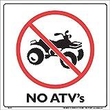 Voss Signs White Plastic Sign 12' No Atv'S
