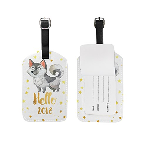 Top Carpenter Printing Laika Bolsa de mão para bagagem de mão, etiqueta de identificação de viagem, identificação de bagagem - couro por