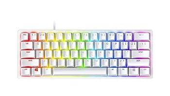 Razer Huntsman Mini 60% Gaming Keyboard  Fastest Keyboard Switches Ever - Clicky Optical Switches - Chroma RGB Lighting - PBT Keycaps - Onboard Memory - Mercury White