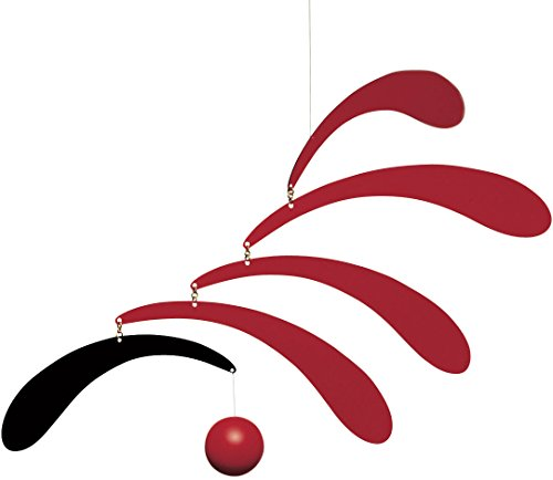 Flowing Rhythm Red Hanging Mobile - 18 Inches - Handmade in Denmark by Flensted