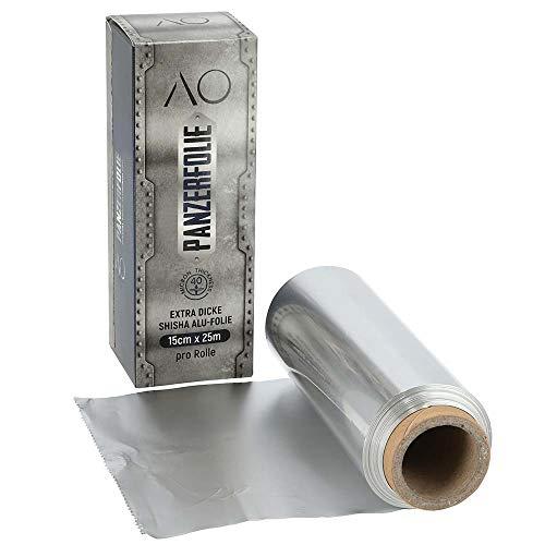 AO® Panzerfolie Shisha Zuschneidbar - Alufolie Extra Stark - Individueller Zuschnitt & Premium Material - 25 m Länge