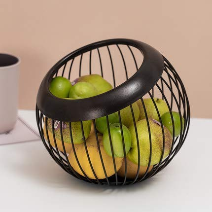 Daily Accessories Fruit Basket Round Metal Wire Storage Baskets Households Items Fashion Fruit Bowl for Bread Fruit Snacks Candy